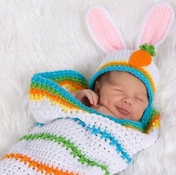 Вязаный конверт на выписку для новорожденных спицами с ...