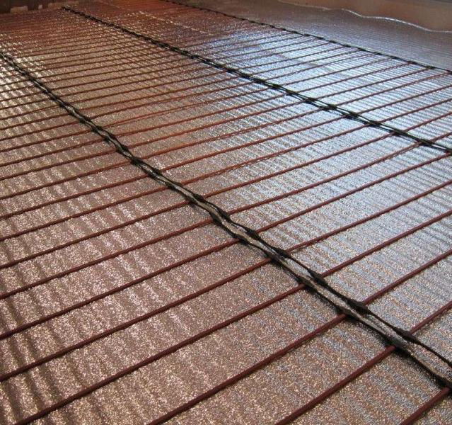 Карбоновый теплый пол – стержневой и пленочный (сплошной) в фото