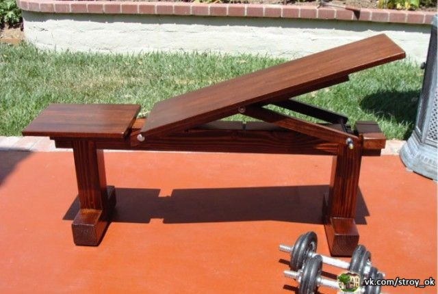 Деревянная гимнастическая скамья своими руками (эскиз, чертеж с размерами) в фото