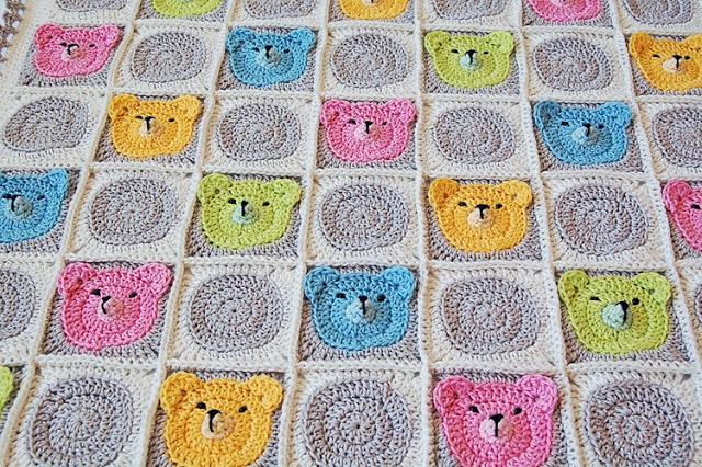 Схемы детского пледа крючком: как связать одеяло с мишками по мастер-классу с видео