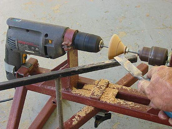 Токарный станок из дрели своими руками в фото