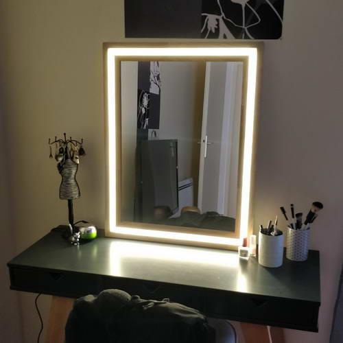 Гримерное зеркало со светодиодной подсветкой своими руками в фото