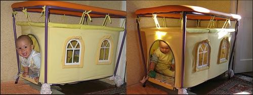 Домик-манеж для ребенка своими руками (мастер-класс, фото) в фото