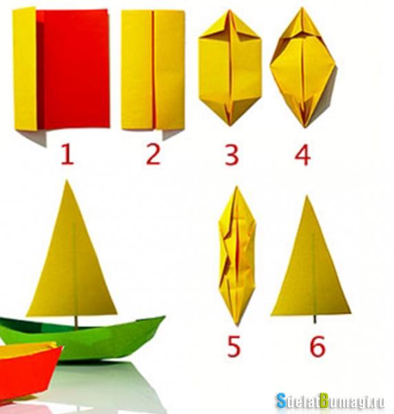 Парусник из бумаги своими руками: схемы оригами с видео