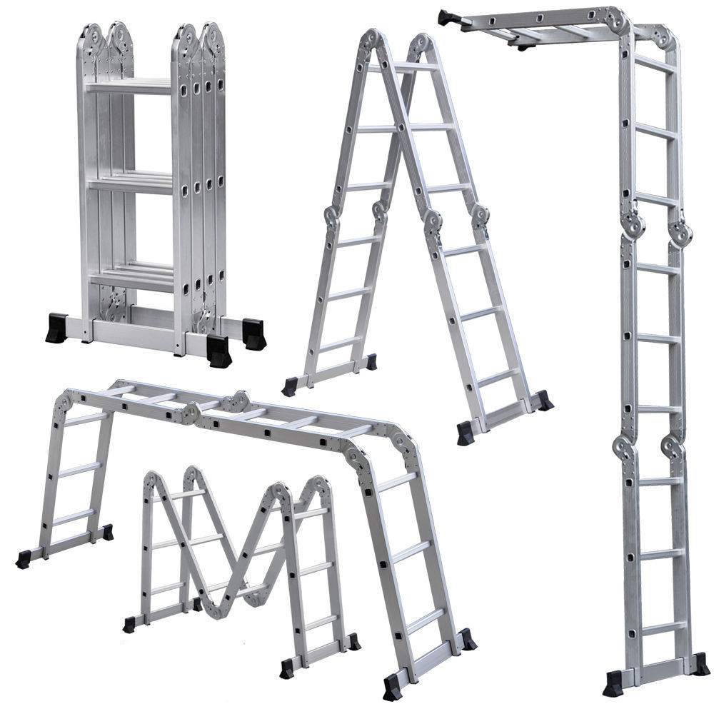 Шарнирная алюминиевая лестница-стремянка