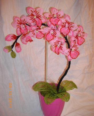 Орхидея из бисера схема плетения 774
