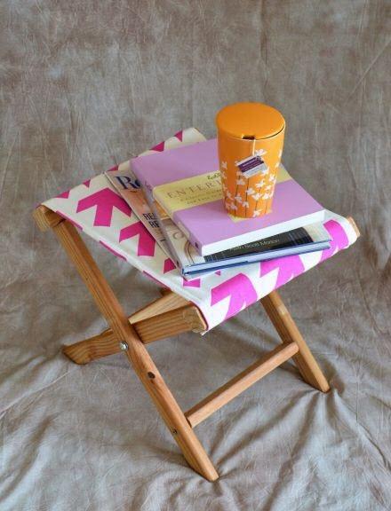 Раскладной стульчик с тканевой сидушкой своими руками в фото