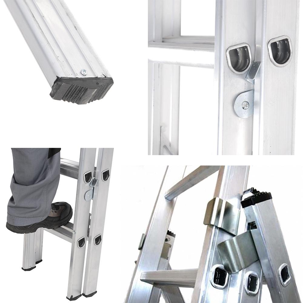 Особенности трехсекционной алюминиевой лестницы