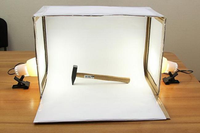 Изготовление лайтбокса для предметной съемки своими руками за полчаса в фото