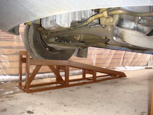 Самодельная миниэстакада для гаража в фото