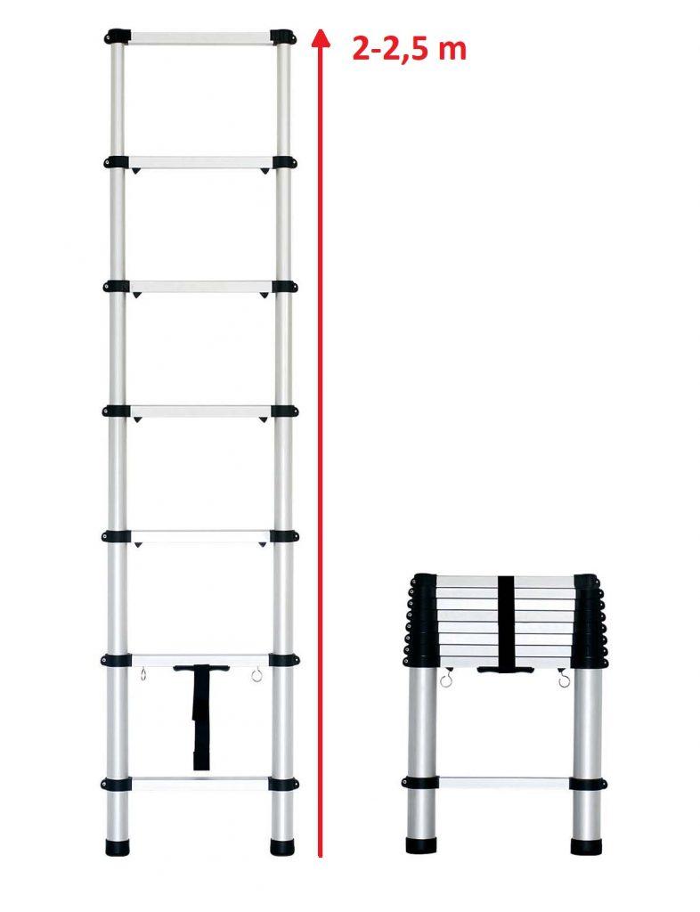Лестница телескопического типа 2 метра