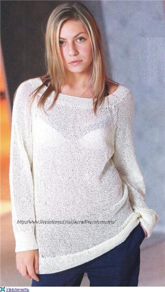 пуловер на спицах женский со схемами