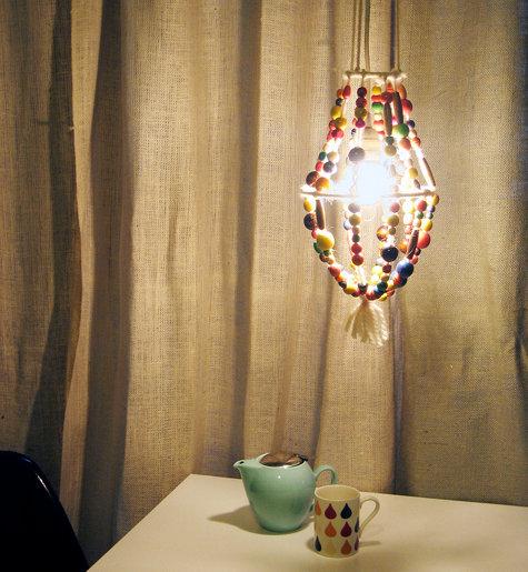 Светильники ручной работы | Бусины и пряжа в фото
