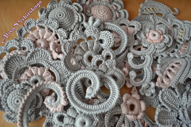 схемы вязания ирландского кружева бесплатно