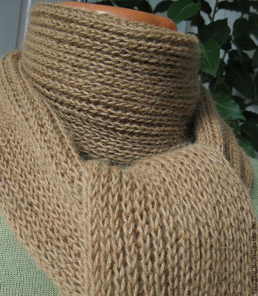 английская резинка простая спицами схема вязания