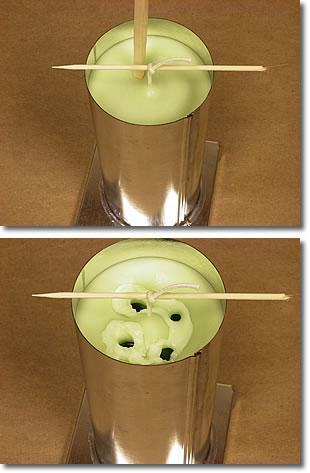 Декоративная свеча ручной работы. Пошагово в фото