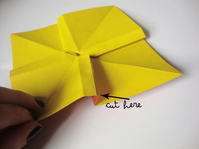 Как сделать бантик из оригами своими руками 46