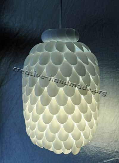 Пример лампы ручной работы. Используем пластик в фото