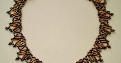Схема плетения из бисера ожерелья «Бронзовый вечер»