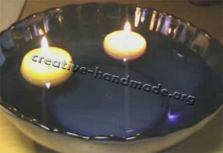 Плавающие декоративные свечи ручной работы в фото