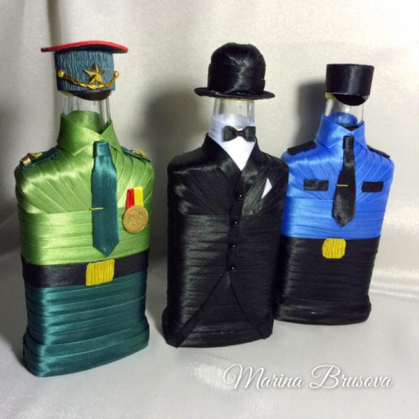 ❶Бутылка украшенная лентами на 23 февраля Мужчин с 23 февраля поздравления Best декор бутылок images in   Jars, Bottle art, Decorated bottles  }