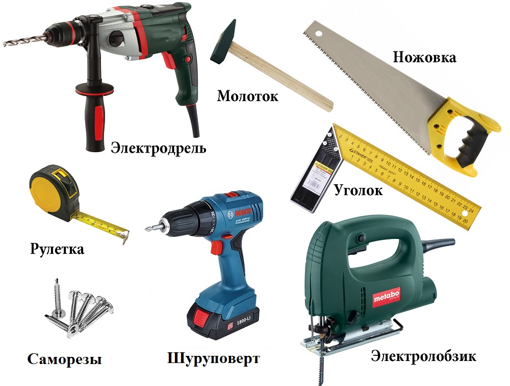 Инструменты для изготовления лестницы из дерева