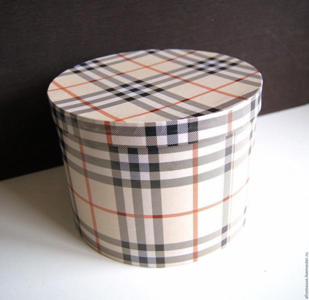 Круглая коробка своими руками из бумаги и картона с крышкой
