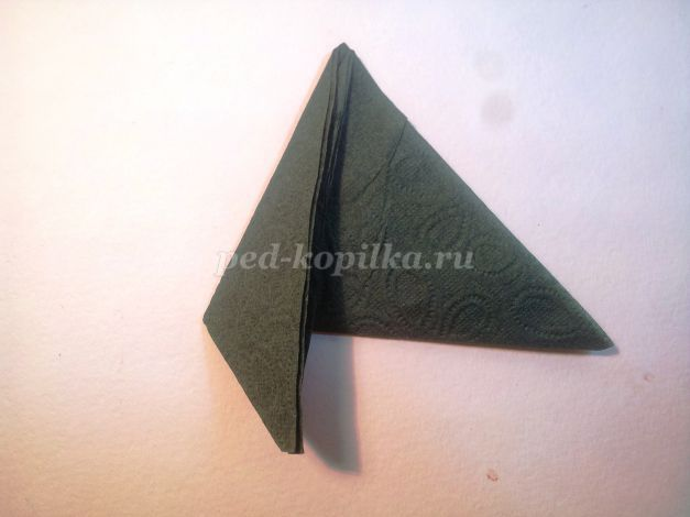 Лотос из бумажных салфеток