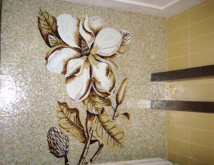 Панно из мозаики своими руками для кухни и в ванную комнату с фото в фото