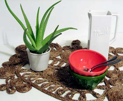 Предметы интерьера ручной работы | Изделия из веревки в фото
