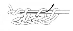 Треугольник крючком со схемой и с описанием мотивов в фото