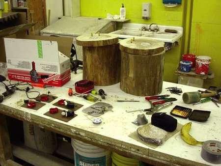 Акустическая система ручной работы в фото