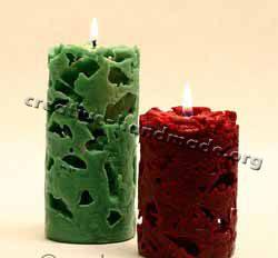 Декоративные свечи ручной работы. Используем лед в фото