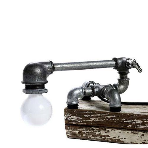 Лампа из трубы — Kozo Laps | Светильники ручной работы в фото