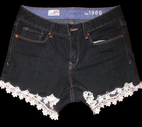 Как сделать модные шорты из джинс 914