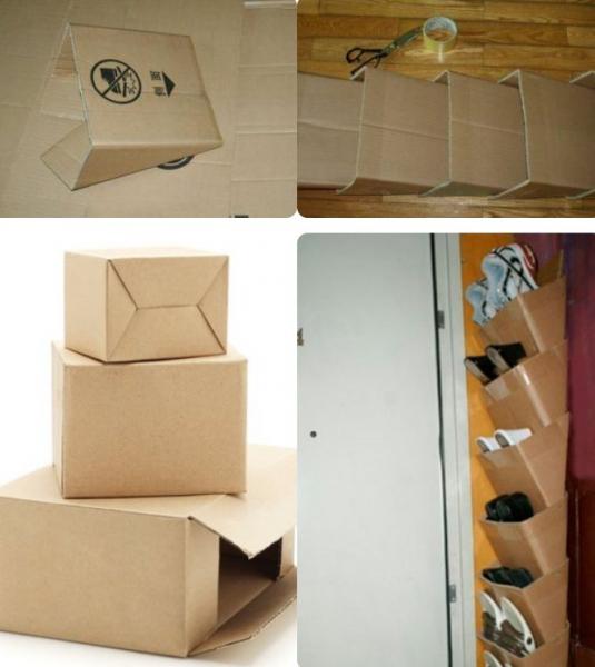 Органайзер своими руками из коробок 444