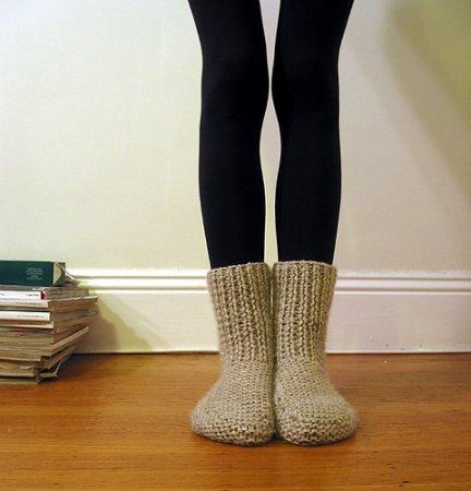 вязание теплых женских носков на 2 двух спицах схема с описанием
