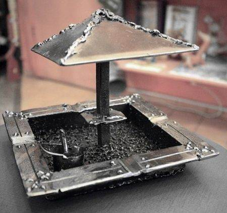 Пепельница своими руками с крышкой из металла с фото и видео в фото