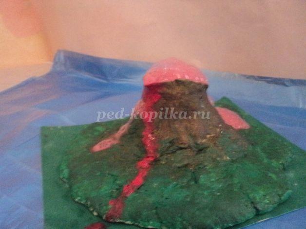 Как сделать вулкан из пластилина своими руками поэтапно 73