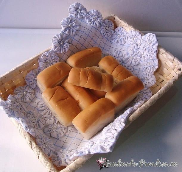 Шьем сами салфетку для хлебницы в фото