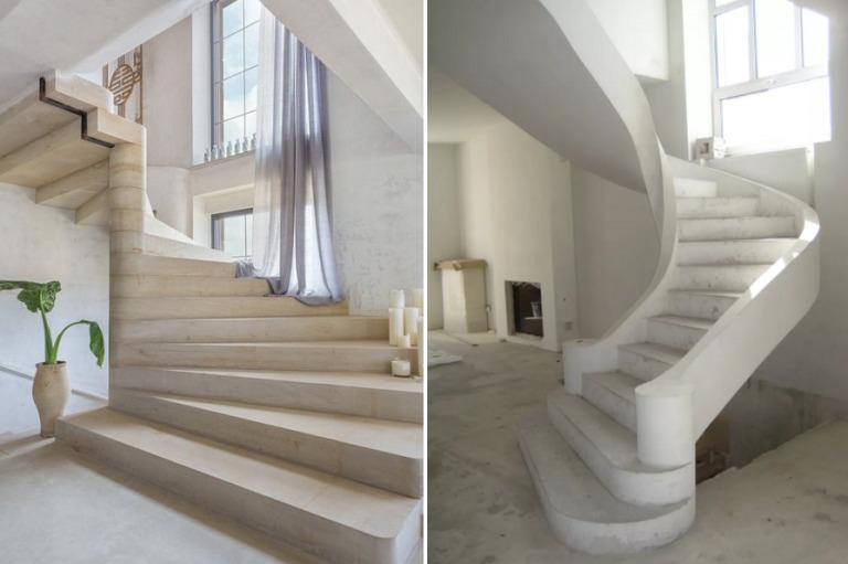 Изготовление железобетонной лестницы: расчет, опалубка, заливка бетона своими руками в фото