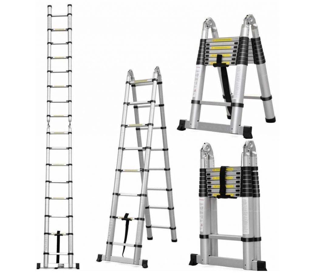 Телескопическая алюминиевая лестница