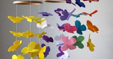 Мобиль своими руками с бабочками: мастер-класс с фото
