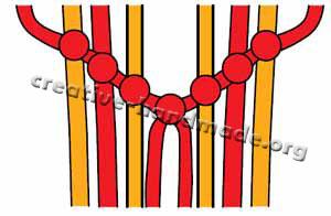 Браслеты ручной работы. Схема плетения №2 (шеврон, стрела) в фото
