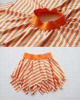Идея для шитья юбки для маленькой девочки без навыков пошива