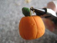 Серьги ручной работы | Тыковки из полимерной глины на Хэллоуин в фото