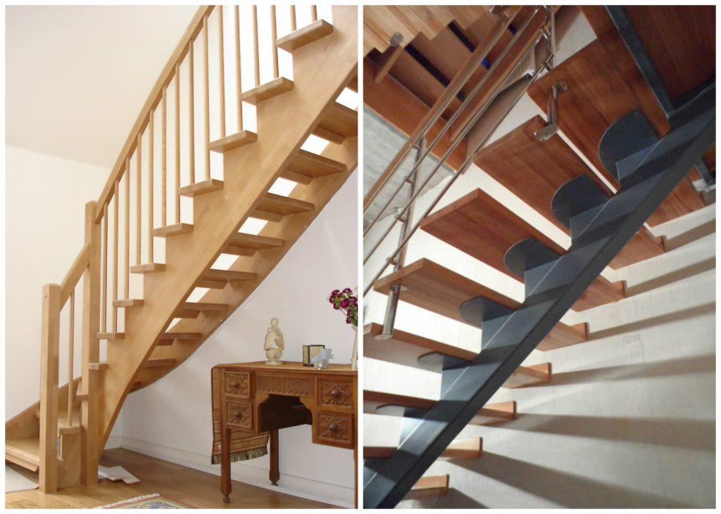 Лестница на одном и двух косоурах
