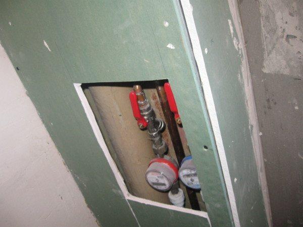 Короб из гипсокартона для труб – прячем проблемные места в фото