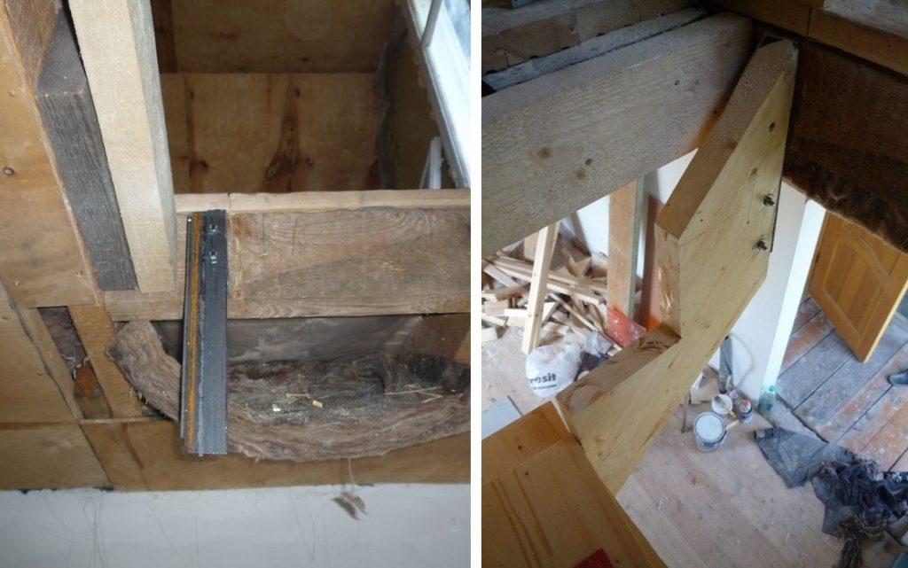 Лестница из дерева в подвал своими руками