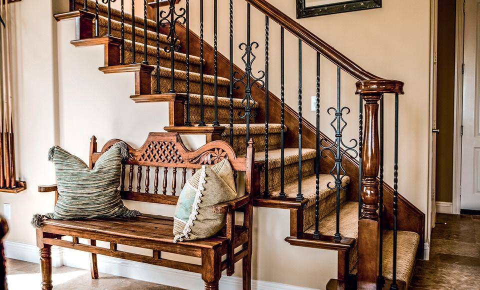 Лестница в в стиле кантри
